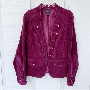 ❤️ Lane Bryant Military Corduroy Blazer Jacket cl